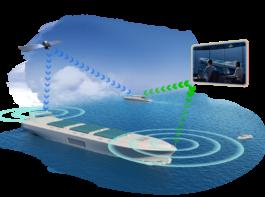 (提供:日本財団)無人運航船イメージ図